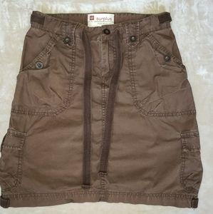 Gap Surplus Cargo Poplin Skirt Size 2 Brown